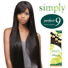 Outre Simply Perfect 9 Natural Straight Non processed Human Hair Weave 9pcs