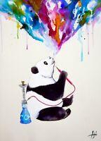 WATERCOLOR PANDA BEAR POSTER (61x91cm) CHAI MARC ALLANTE PICTURE PRINT NEW ART