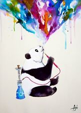 MARC ALLANTE CHAI PANDA POSTER (61x91cm) WATERCOLOUR PICTURE PRINT NEW ART