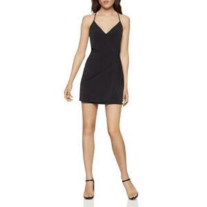 BCBGeneration Womens Black Side-Tie Mini Party Cocktail Dress M BHFO 5495