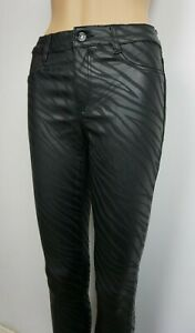Women`s Dorothy Perkins Leather Look Skinny Jeans UK Size 6 8 10 12 14