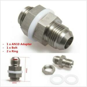 Universal Steel Oil Pan Return Drain Plug Adapter Bung Fitting For AN10 Weldable