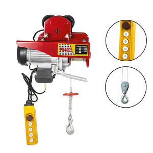 Heavy Duty Electric Wire Rope Hoist With Trolley 400kg/880lbs Capacity 220V