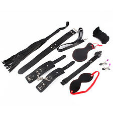 Bed Restraint Harness Lover Adult SM Sex Toy BDSM Hand Ankle Cuffs Leather Whip