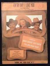 Vintage sheet music - Ev'ry Day I Love You - Hankerin' 1948 Two Guys From Texas