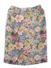 Liz Claiborne Women's Silk Pencil Skirt Floral Career Spring 100% Silk Pastel 12