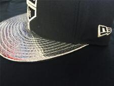 New Era LA Kings Silver Snakeskin Foil Fitted Cap Hat SAME DAY SHIPPING! RARE!!!