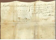 Large American Manuscript Document, 1787, Signed by New York First Chief Justice
