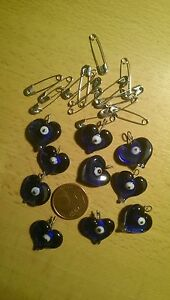 Anhänger  10 Stück- Glücksbringer - magisches Auge -  -Nazar boncugu- Glas