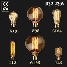 NEW B22 60W 220V Vintage Retro Style Filament Lighting Edison Lamp Light Bulb