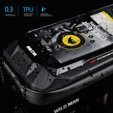WILD MAN MTB Fahrrad Touchscreen Tasche Wasserdichtes Oberrohr Hartschalenetui