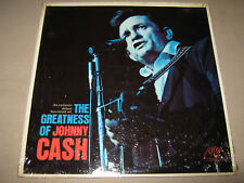 JOHNNY CASH The Greatness of RARE SEALED New Double Vinyl 2 LP Sun Records 93213