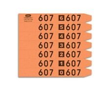 Cleartype Standard 7-Up Shirt Tags - 7,000/Box - Orange