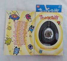 1996/1997 Bandai Original TAMAGOTCHI Virtual Pet v1 SILVER & BLACK #1800 NEW