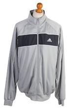 Vintage Adidas Three Stripes Tracksuit Top Streetwear Unisex L Silver - Sw1999