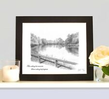 REDMIRE POOL Mounted Art Print Picture Present For Carp Angler Fisherman Carper