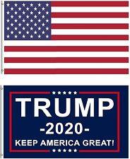 2 PK Donald Trump Flag for President 2020 Keep America Great Flag 3x5 Ft Durable