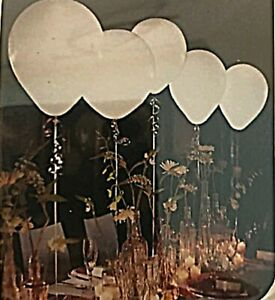 """LED Lighted Balloons 5 White Light w/ 3 Settings 12"""" SimpleStyle Weddings Party"""