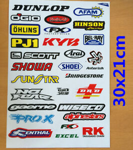 Dunlop FX Sticker Decal Car Motorised Bike Dirt ATV Quad Motorcycle Motorcross