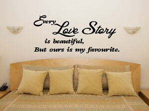 Love Story Beautiful Bedroom Living Dining Room Decal Wall Art Sticker Picture