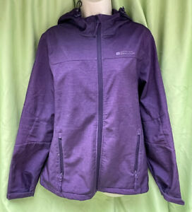 Mountain Warehouse Size 14 Purple Waterproof Breathable Full Zip Hooded Coat