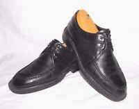 Men's Bacco Bucci Black Leather Dress Shoes Oxfords Size 12 M