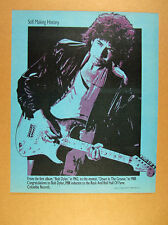 1988 GREAT Bob Dylan & Fender Guitar art Rock & Roll Hall of Fame Congrats Ad