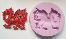 WELSH DRAGON SILICONE MOULD FOR CAKE TOPPERS, CHOCOLATE, CLAY ETC