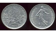 France 1971 5 Francs - Sower - Copper-Nickel Coin