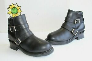 New FRYE Men's Boots Engineer Motorcycle Biker Black Leather.US Size 11 (Mexico)