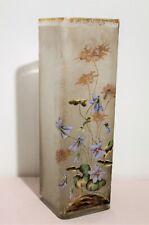 Vase Montjoye en verre émaillé époque art nouveau