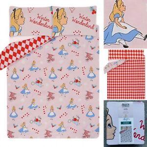 George Disney ALICE IN WONDERLAND Double CHRISTMAS Duvet Cover Bedding Set New!