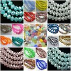 Wholesale New Rondelle Faceted Crystal Glass Loose Spacer Beads 3-8mm Can Choose