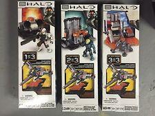 Megablocks Halo Conjunto de Tres Hangar Deck 97133 C&C Consola 97131 & 97170