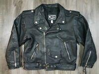 Vintage Diamond Leather Collection Motorcycle Jacket Jacket Black Womens Size 16