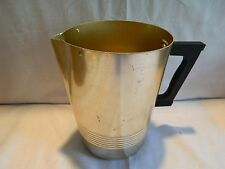 VINTAGE ENTERPRISE GOLD ANODIZED ALUMINUM PITCHER - BAKELITE HANDLE