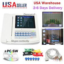 FDA ECG1200G Digital 12 Channel ECG Machine Color electrocardiograph PC Software