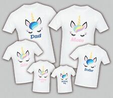 Unicorn Birthday Matching T-shirts  Party Family Kid Tshirt Mom, dad, sister