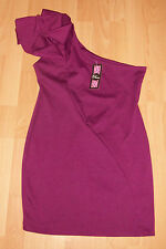 BNWT Rare @ Topshop & ASOS Purple Magenta One Shoulder Bodycon Dress Size 12