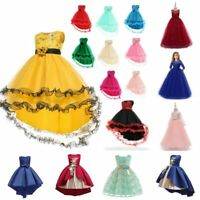 Party formal kid tutu girl dress bridesmaid flower baby dresses wedding princess