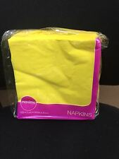 100 YELLOW 40CM 2PLY PAPER NAPKINS SERVIETTES OFFER SOFT TISSUE MAXIMA
