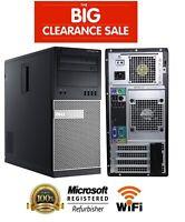Business Class Dell OptiPlex 790 MT Core i3 Windows 7 2TB/SSD 16GB WiFi PC Tower