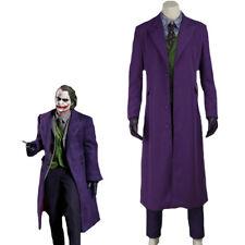 Costume Joker Batman cosplay viola abito completo film professionale per adulti