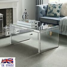 VENETIAN CHAMPAGNE MIRRORED COFFEE TABLE MIRRORED COFFEE TABLE WITH DRAWER