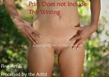 NUDE Frontal, Abdominal, NAKED, hands OUTDOOR Photograph, DIRECT FROM ARTIST