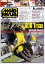 MOTO REVUE 3451 YAMAHA XJR 400 R 500 TMAX HONDA GL 1500 SE GOLD WING DAKAR 2000