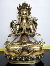 Tibetan bronze Four-armed guanyin buddha statue