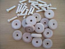 "50x #3 wooden toy wheel axle peg to suit 1//4/"" hole Birch Hardwood FREE P/&P"