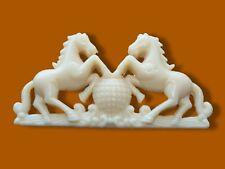 Shabby arredo Onlay Craft stampaggio APPLIQUE cavallo e Globe Orologio Specchio Chic