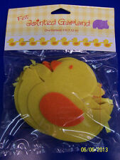 Yellow Ducks Rubber Ducky Baby Shower Nursery Party Decoration Felt Garland